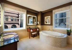 JW Marriott Chicago New Years Eve party bathroom